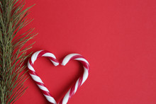 Red And White Candy Canes And ...