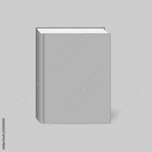Fotografering  Closed hardcover book, realistic vector mockup