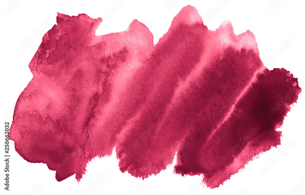 Fototapety, obrazy: Persian red watercolor abstract background, stain, splash paint, stain, divorce. Vintage paintings for design and decoration. With copy space for text.