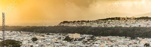 Fotomural Panorama of the Sunset and Richmond districts of San Francisco at sunset