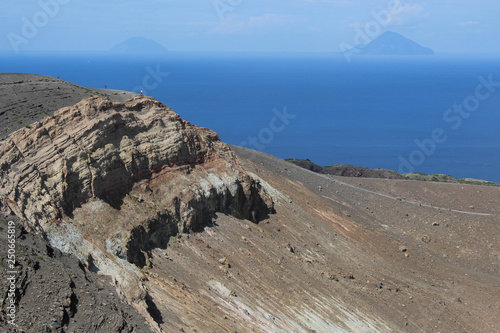 Alicudi and Filicudi from Vulcano Canvas Print