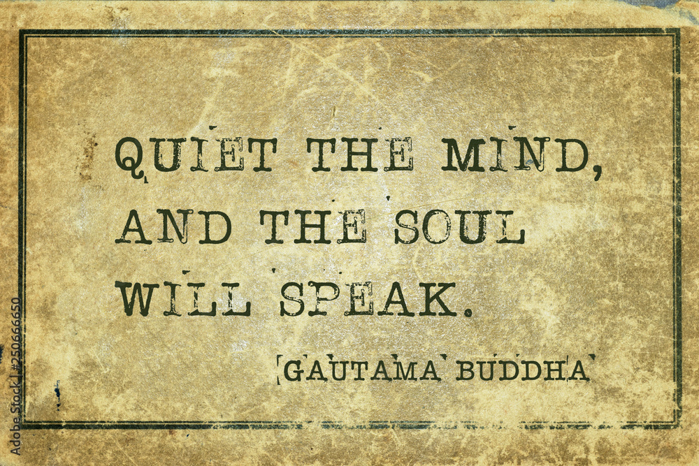 Fototapeta quiet mind Buddha