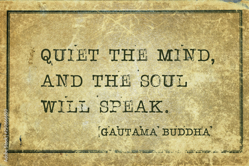 quiet mind Buddha Fototapete