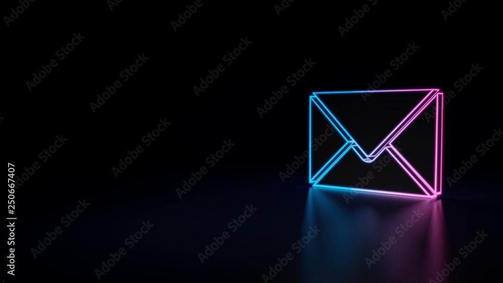 Fototapety, obrazy: 3d icon of envelope