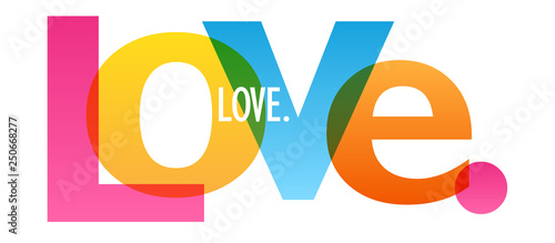 LOVE. colorful typography banner Canvas Print
