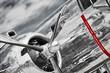 canvas print picture - Propeller einer B-25 Mitchell, North American