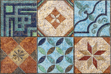 Fototapeta Mozaika Tiles design.Ceramic wall and floor