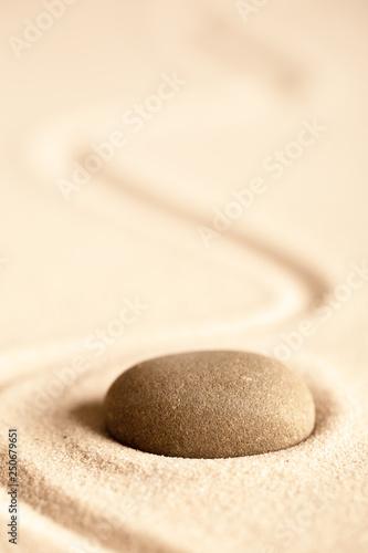 Foto op Plexiglas Stenen in het Zand harmony purity and spirituality background, zen meditation stone.