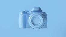 Blue Digital DLSR Camera 3d Illustration 3d Render