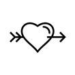 Vector Heart Cross Arrow Icon