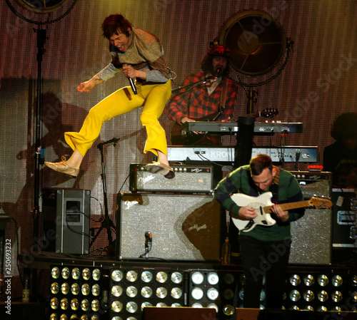 Matt and Brad Shultz of Cage the Elephant perform during the