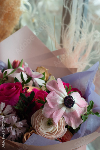 nunculus, anemone, rose, hyacinth, Tulip, rose, bouquet, flower, pink, roses, flowers, nature, love, white, wedding, red, floral, bunch, green, beauty, romance, blossom, petal, isolated, gift, beautif