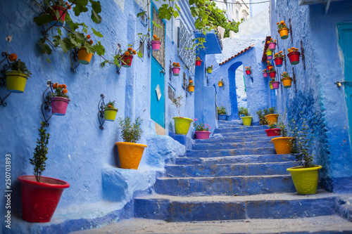 In de dag Afrika calle azul marruecos