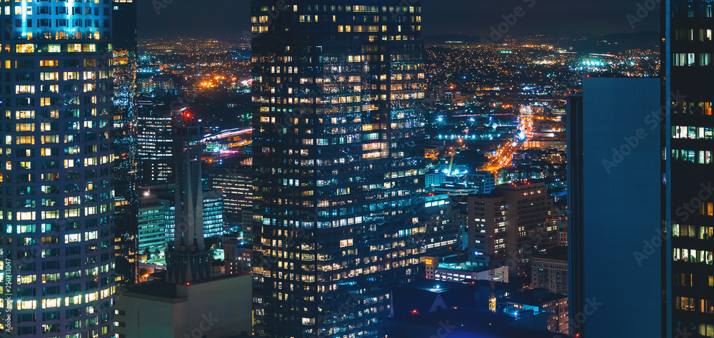 Fototapety, obrazy: View of Downtown Los Angeles, CA buildings