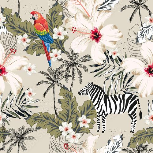 tropikalna-zebra-zwierze-papuga-ara-kwiaty-hibiskusa-liscie-palmowe-drzewa-bezowym-tle-wektorowa-bezszwowa-deseniowa-ilustracja-lato