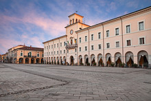 Cervia, Ravenna, Emilia-Romagna, Italy: The Ancient City Hall In The Main Square Of The Town On The Adriatic Sea Coast