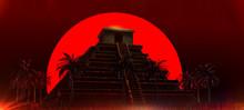 Mexican Mayan Aztec Pyramid In...