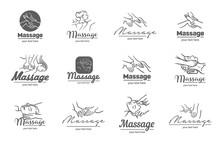 Vector Logo Of  Massage Proces...
