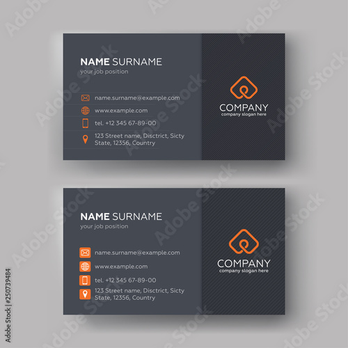 Business card templates Fototapeta