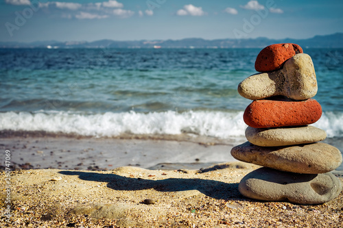 Aluminium Prints Stones in Sand Rock Art