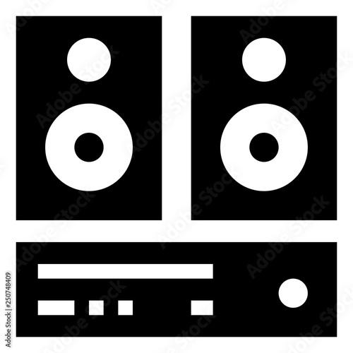 Fotografía  Stereo Sound System Icon