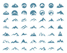 Mountain Logo Vector Illustration Concept, Suitable For Financial, Accounting, Business, Travel And Other Companies