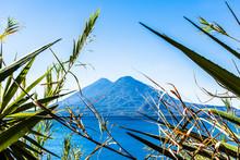 Atitlan & Toliman Volcanoes, Lake Atitlan, Guatemala