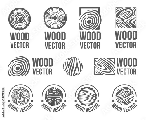 Vector Hand drawn sketch of abstract wood texture illustration on white background Wall mural