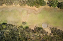 Green Golf Field With Hole
