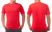 Red Shirt Design Template