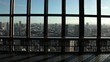 WS Rear view of man looking at cityscape from observation tower / Tokyo, Japan