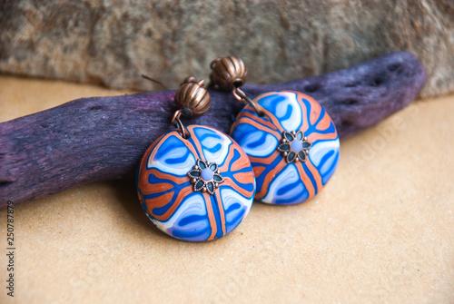 Fotografie, Obraz  Handmade jewelry from polymer clay