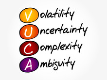 VUCA - Volatility, Uncertainty...