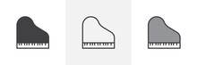 Piano Top View Icon. Line, Glyph And Filled Outline Colorful Version, Grand Piano Outline And Filled Vector Sign. Symbol, Logo Illustration. Different Style Icons Set. Pixel Perfect Vector Graphics