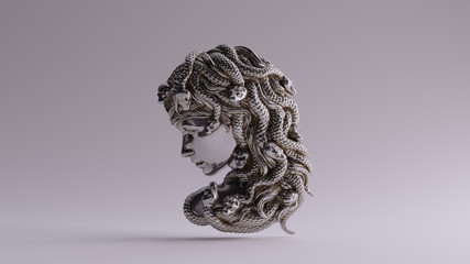 Antique Silver Medusa Bas R...