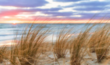 Sonnenaufgang Am Sand Strand A...