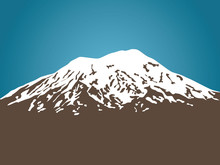 Mount Ararat Vector Illustration