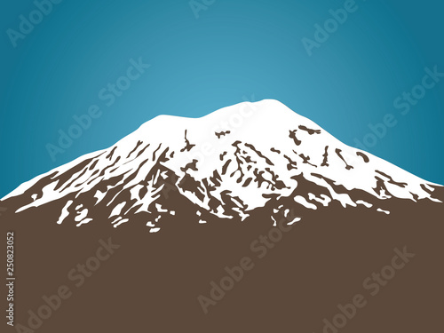 Fotografie, Tablou Mount Ararat vector illustration