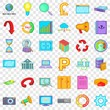 Accessories icons set. Cartoon style of 36 accessories vector icons for web for any design
