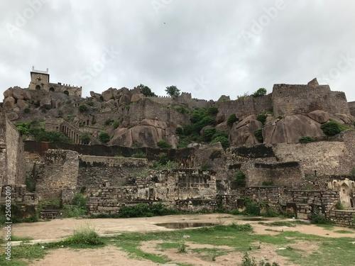 Ruins of Golconda Fort in Hyderabad, India Wallpaper Mural