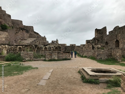Canvas Print Ruins of Golconda Fort in Hyderabad, India