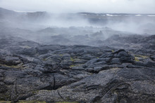 Steaming Lava Field Krafla Vol...