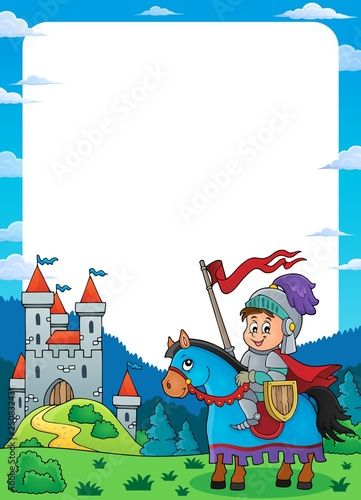Wall Murals For Kids Knight on horse theme frame 1
