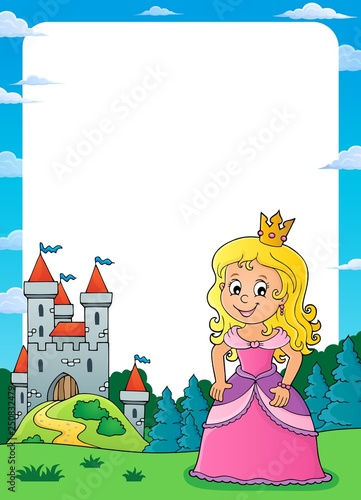 Princess and castle theme frame 2