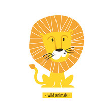 Cute Vector Lion. Perfect For ...