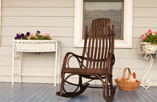 Rocking Chair On Front Porch O...