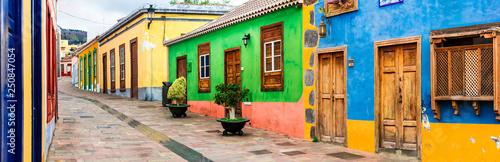 Colorful old streets of Los llanos de Aridane. La Palma, Canary islands