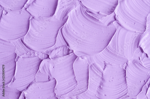 Printed kitchen splashbacks Fairytale World Lavender face cream/mask/body wrap texture close up. Brush strokes. Selective focus. Abstract violet background