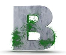 Concrete Capital Letter - B Fr...
