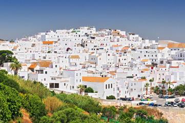 The white walled town of Vejer de La Frontera, Cadiz, Spain.